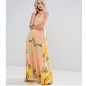ASOS Petite Floral Print Maxi Dress
